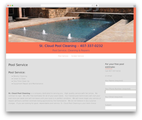 Template WordPress OnePage - stcloudpoolcleaning.com