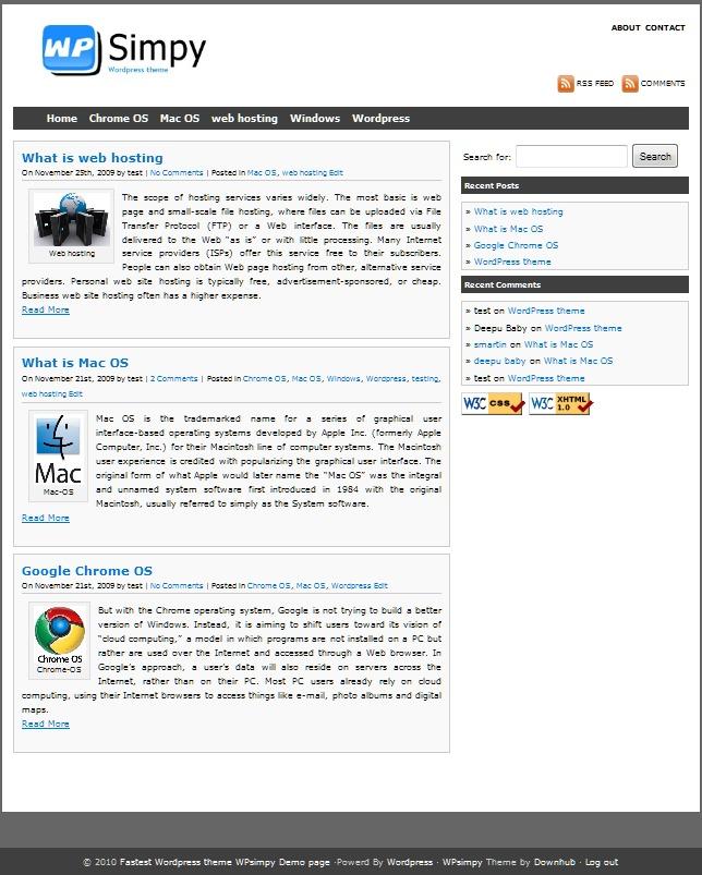 WP theme WPsimpy WordPress Theme