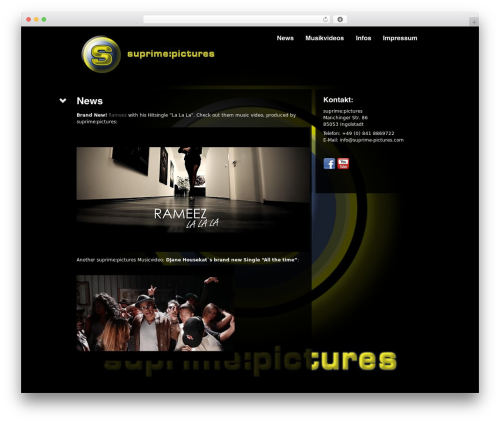 Black Label WordPress theme - suprime-pictures.com
