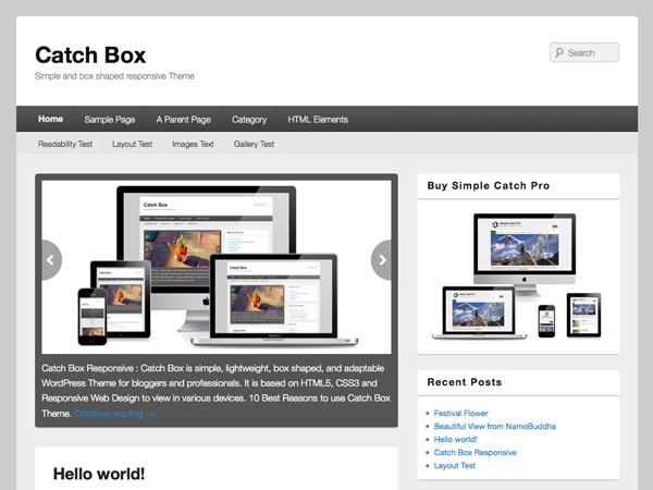 Catch Box WordPress blog theme