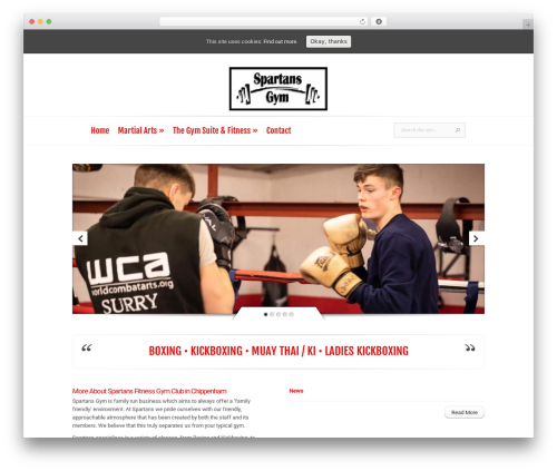 Evolution WordPress theme design - spartansgym.net