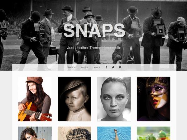 Snaps wallpapers WordPress theme