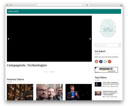 Video WordPress video template - stadtmensch.net