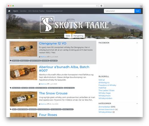 WordPress theme Cityscape - skotsktaake.com