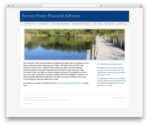 Fresh And Clean WP template - stevensfoster.com