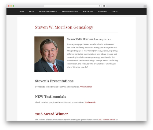 Theme WordPress Museum - stevenwmorrison.com