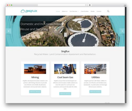 Best WordPress template Salient - singflux.com.au