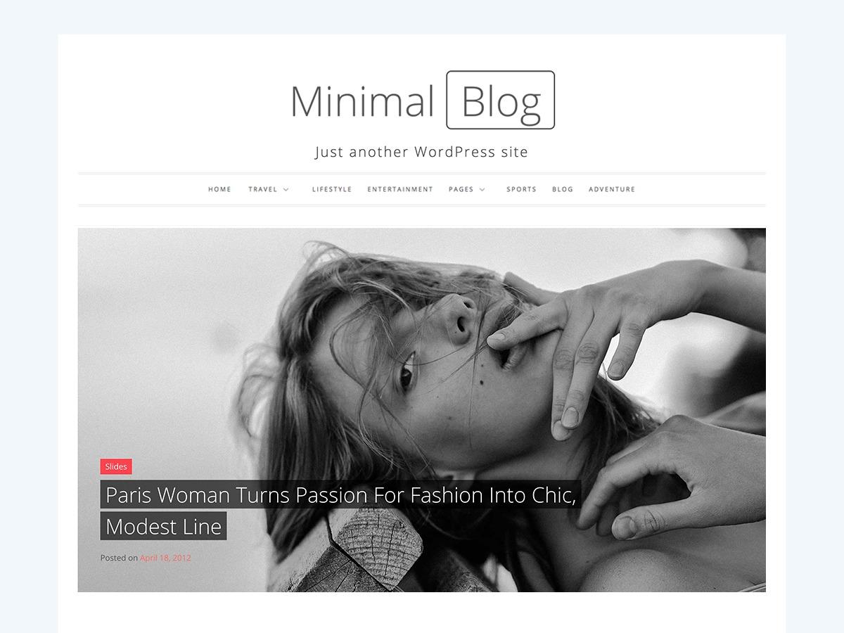 Minimal Blog newspaper WordPress theme