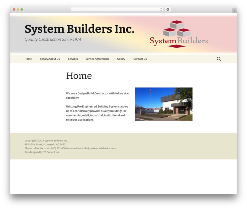 Twenty Thirteen free website theme - systembuildersinc.com
