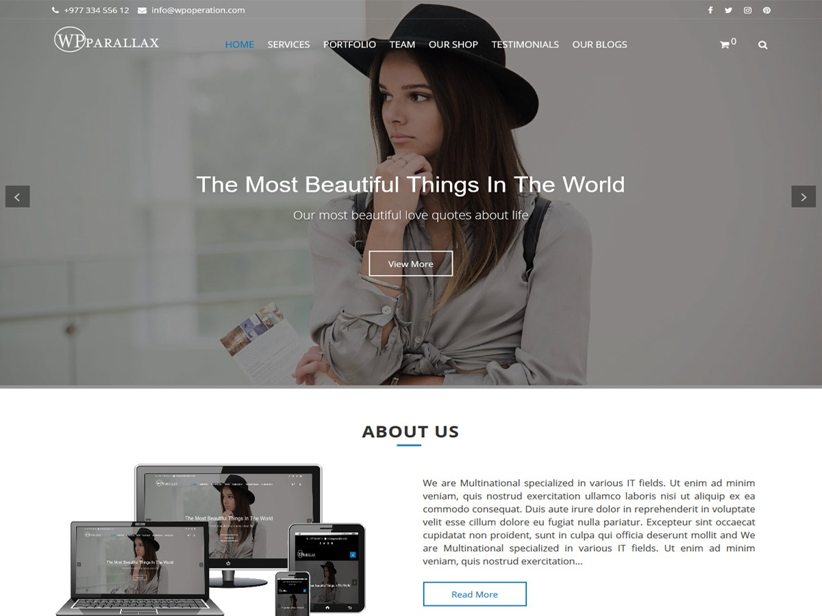 WPparallax best WooCommerce theme