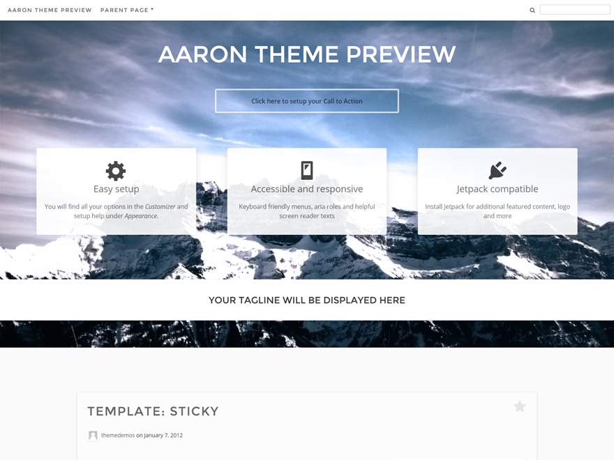 Aaron WordPress shop theme