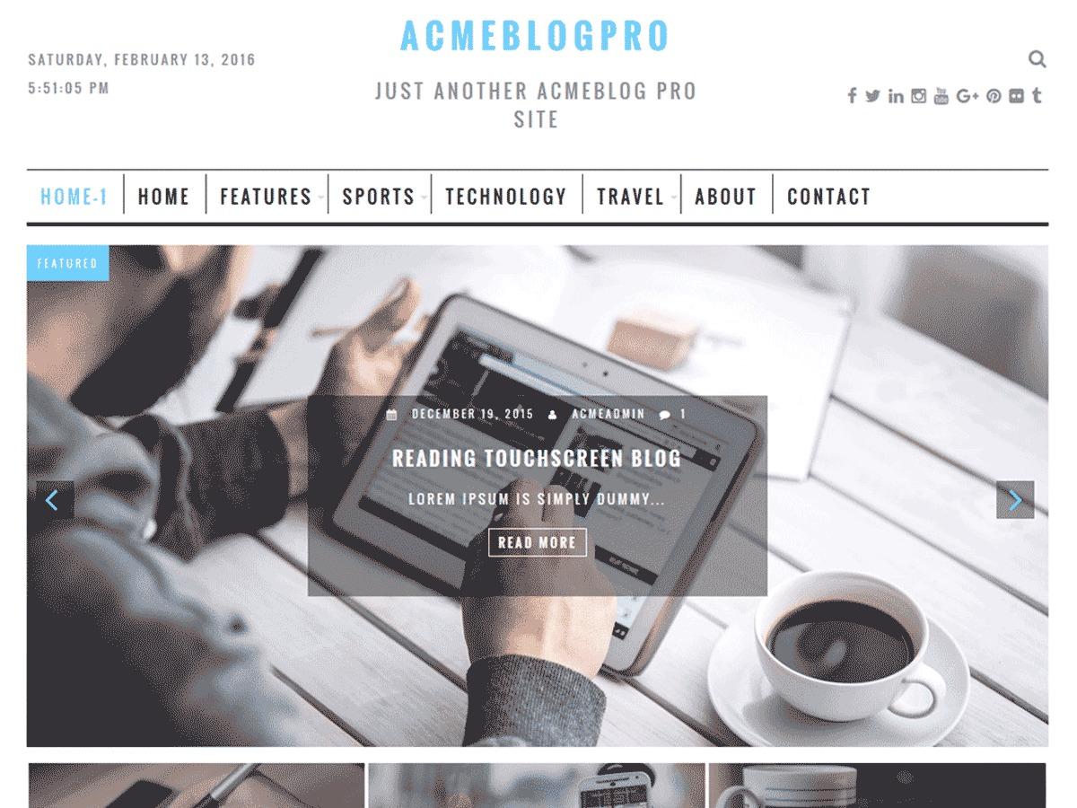 AcmeBlogPro wallpapers WordPress theme