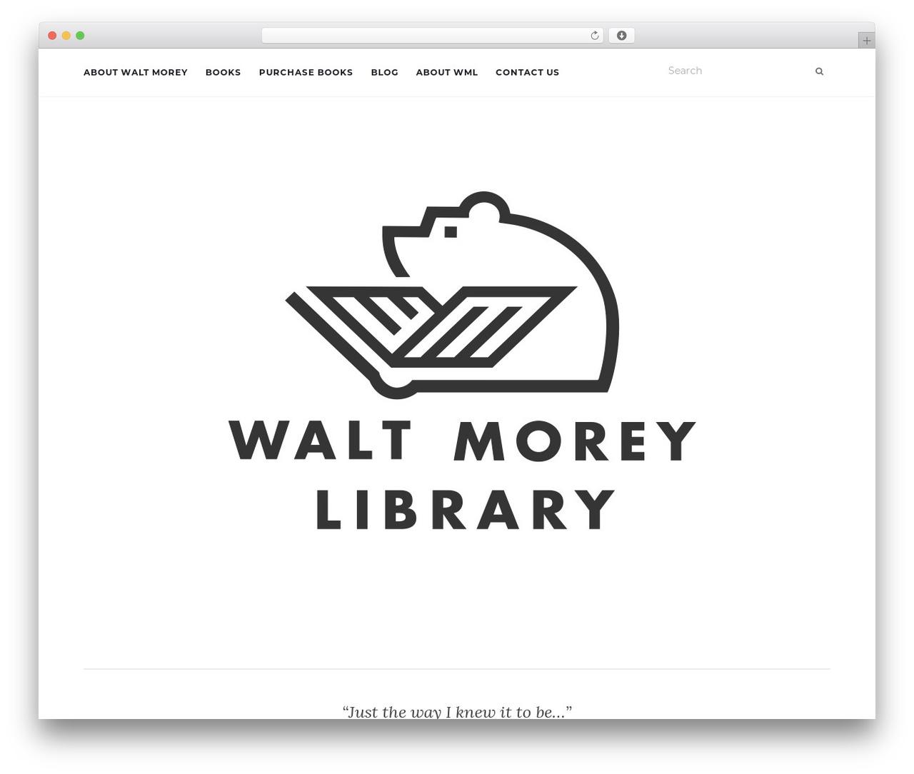 Activello WordPress template - waltmoreylibrary.com