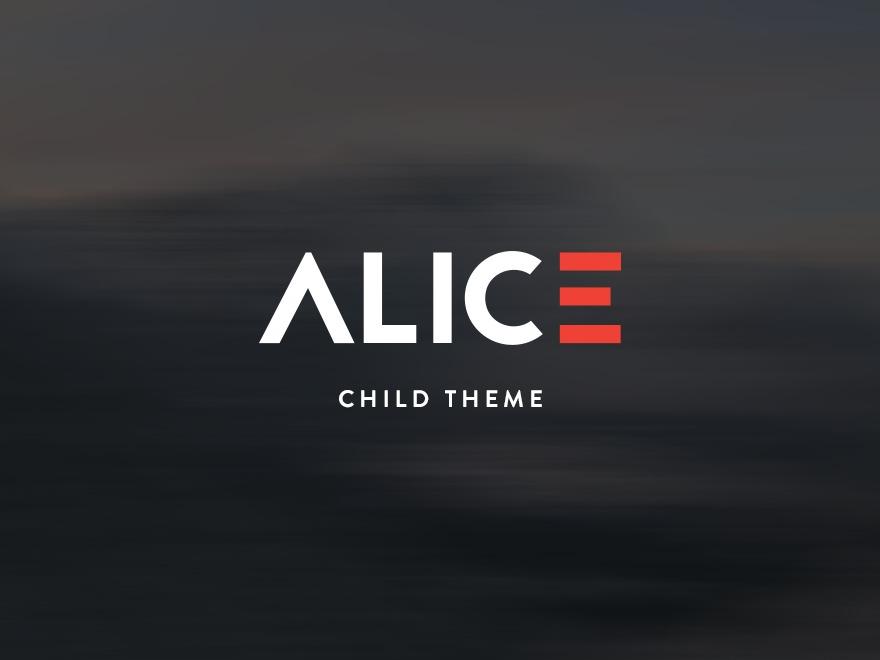 Alice Child Theme - Alice - Creative Portfolio Theme WordPress template for business