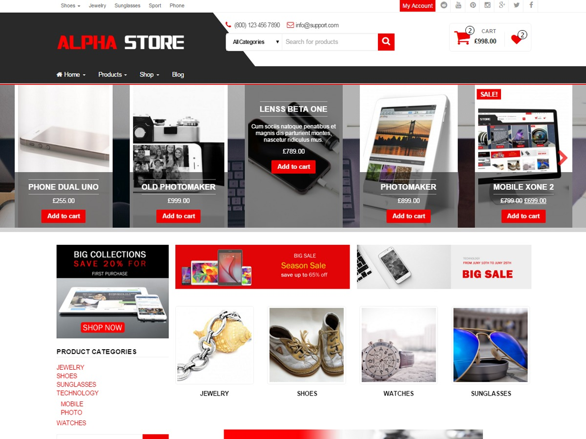 Alpha Store WordPress ecommerce template