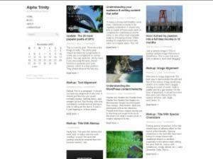 Alpha Trinity WordPress theme