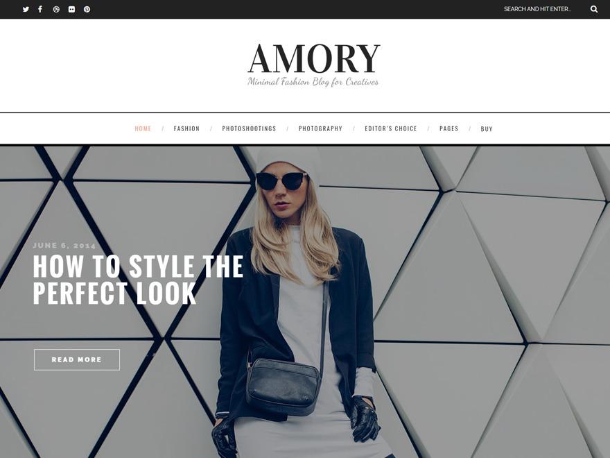 Amory WordPress blog theme