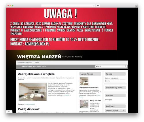 Antisnews WP theme - wnetrzamarzen.blogx.pl