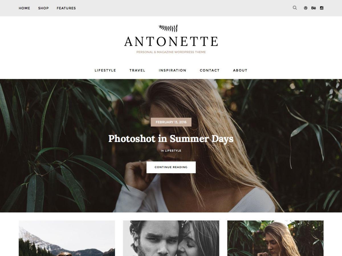 Antonette WordPress blog template