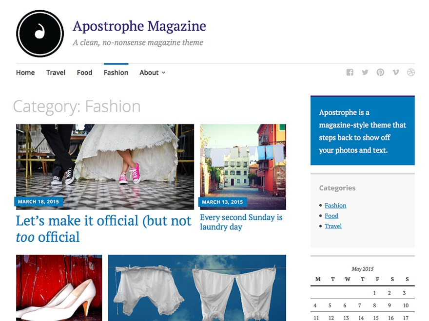 Apostrophe best WordPress magazine theme