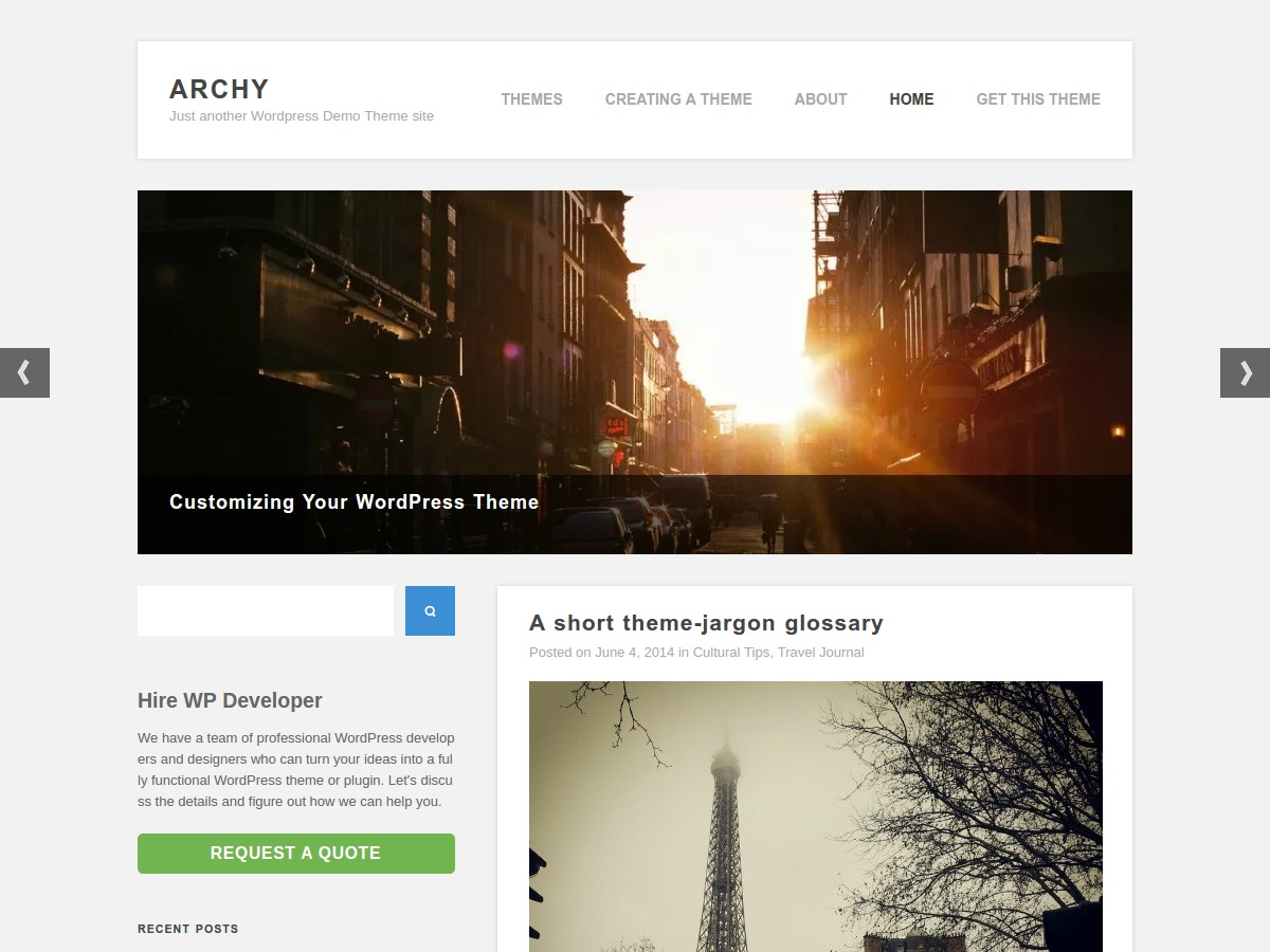 Archy free WordPress theme