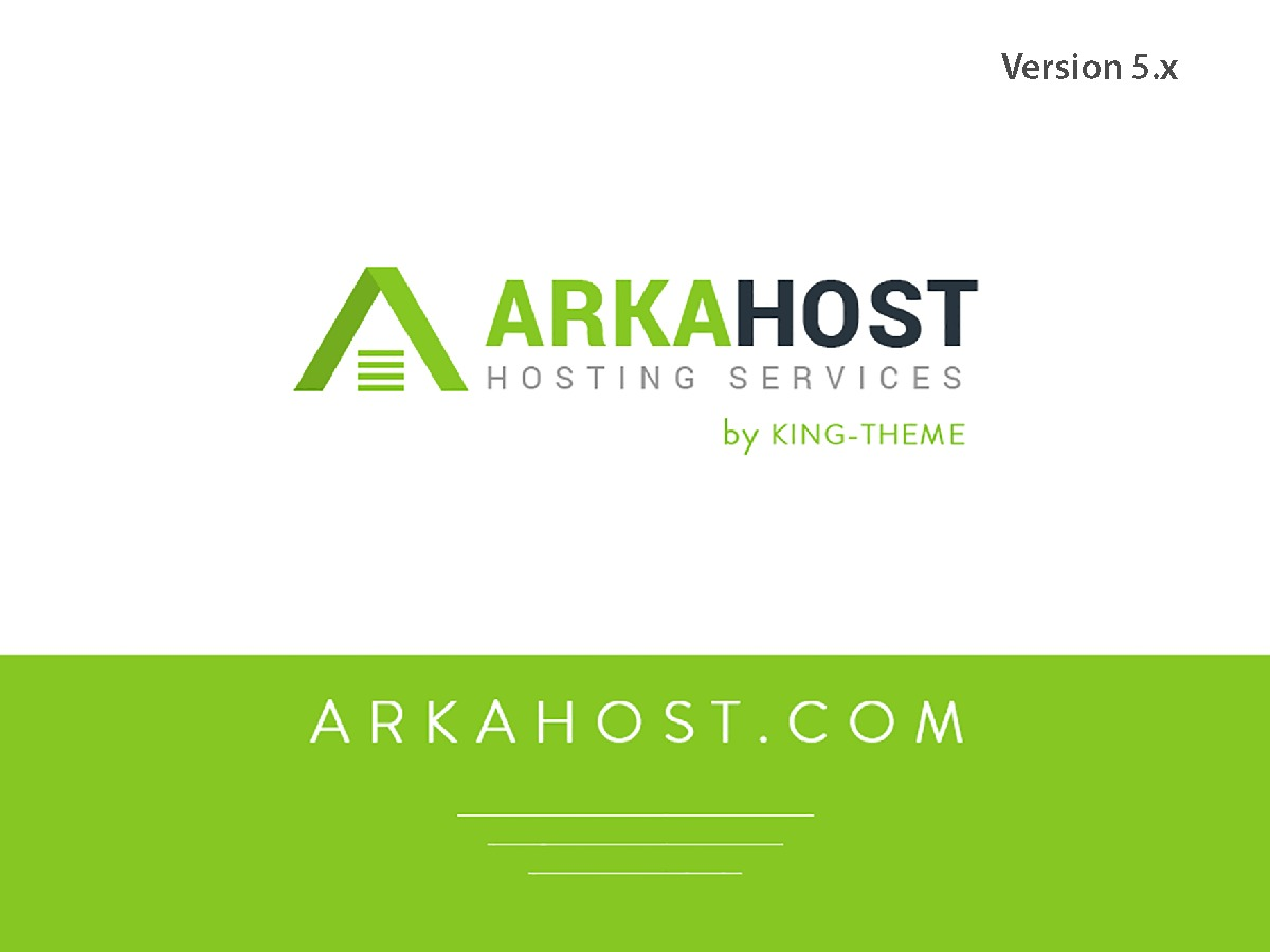 ArkaHost company WordPress theme