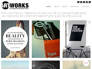 Art Works Responsive WordPress Theme WordPress blog theme