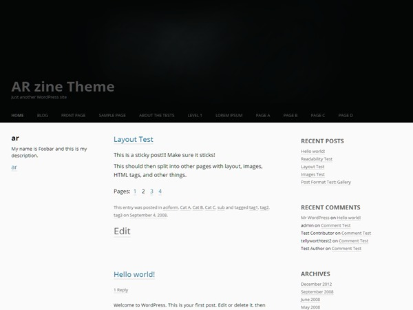 arzine WordPress theme free download