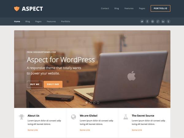 Aspect company WordPress theme