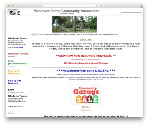 Atahualpa WordPress website template - windoverfarms.org