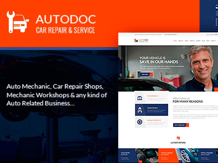Autodoc WordPress shop theme