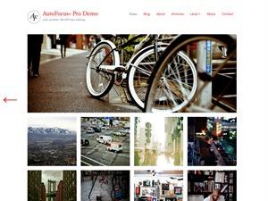 AutoFocus+ Pro WordPress template for photographers