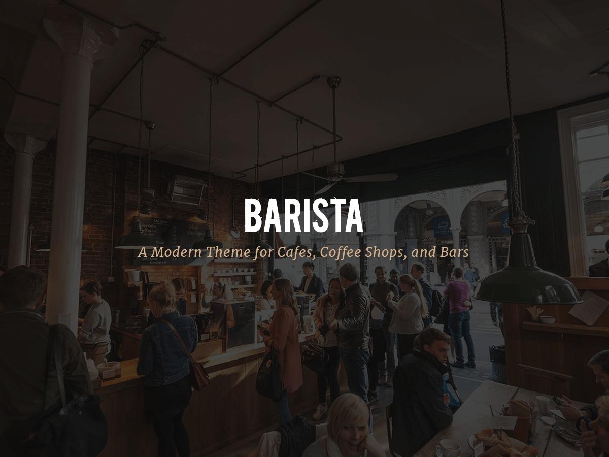 Barista WordPress ecommerce template