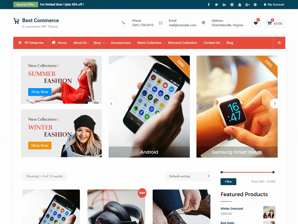 Best Commerce WordPress theme free download