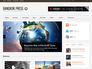 Best WordPress template Bangkok Press