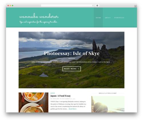 Best WordPress template Cassia - wannabewanderer.com
