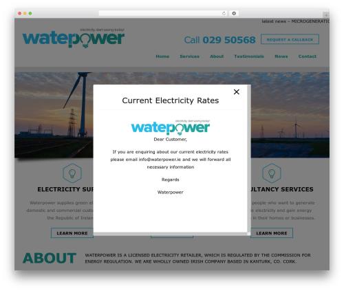 Best WordPress template Heal - waterpower.ie