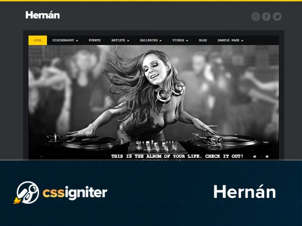 Best WordPress template Hernán