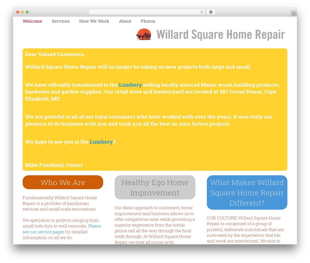 Best WordPress Template Impreza Willardsquarehomerepair Last Updated Aug 2018 Willard Square Home Repair
