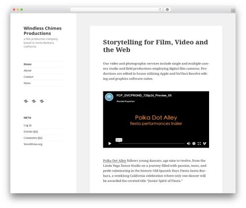 Best WordPress template Twenty Fifteen - windlesschimes.com
