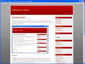Best WordPress theme red minimalista