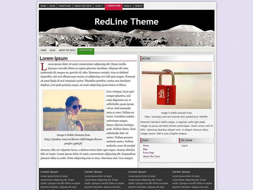 Best WordPress theme RedLine