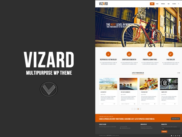 Best WordPress theme Vizard