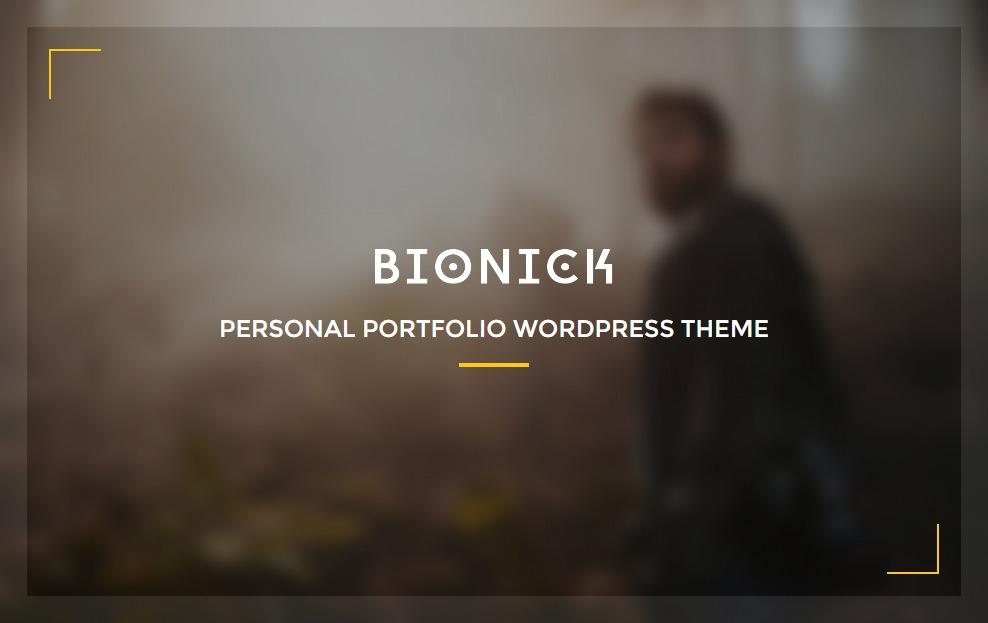 BionickWP best portfolio WordPress theme