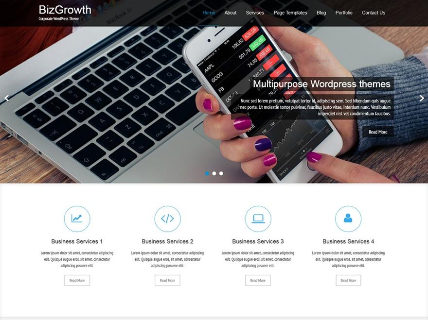 BizGrowth template WordPress free
