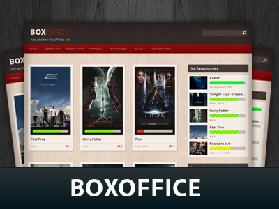 Boxoffice WordPress theme design