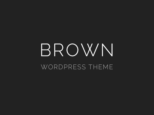 Brown Child WP template