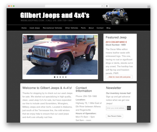 Builder template WordPress - webejeeping.com