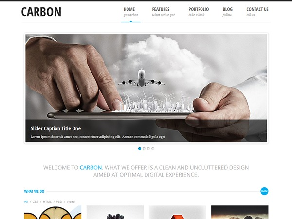 Carbon Light personal WordPress theme
