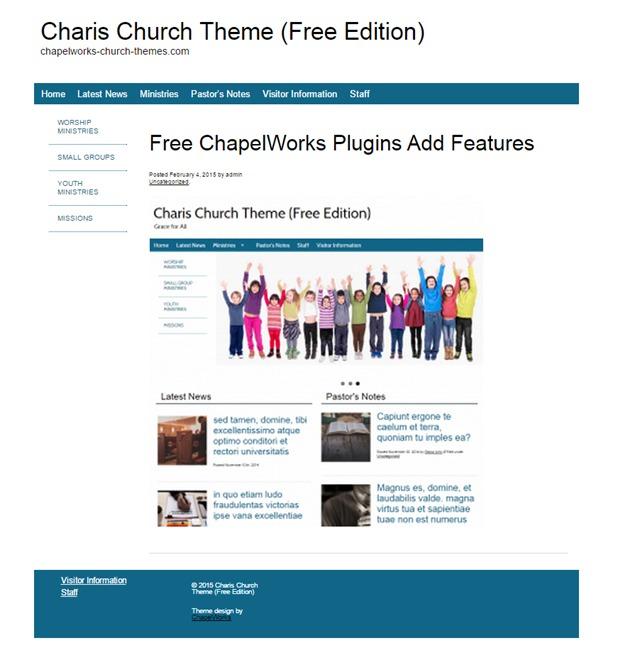 Charis Church best WordPress theme